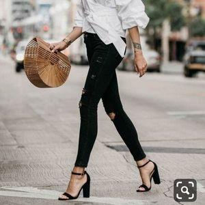 J.Crew Black Block heels